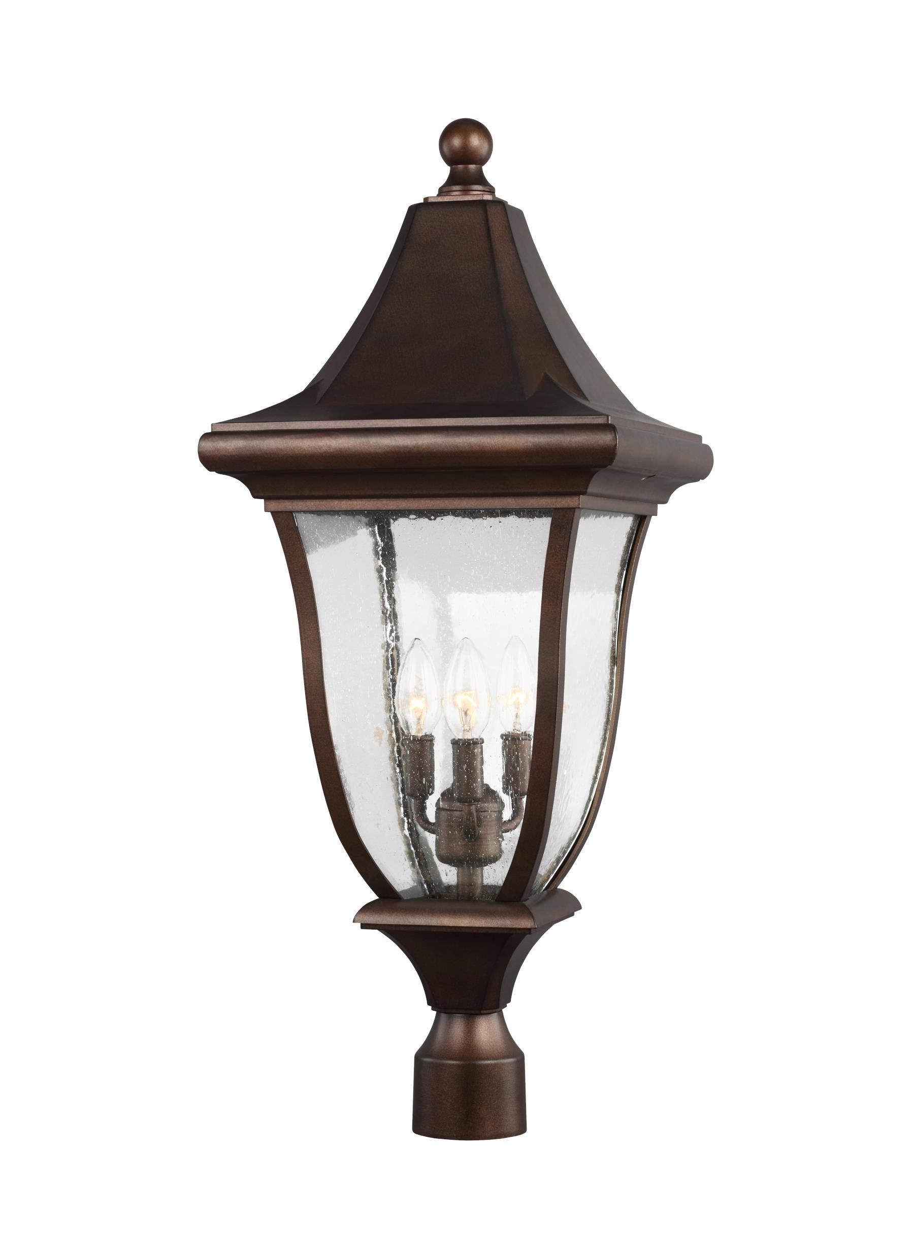 Most Popular Ol13107Ptbz,3 – Light Outdoor Post Lantern,patina Bronze Pertaining To Outdoor Pillar Lanterns (View 8 of 20)