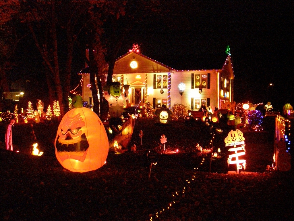Most Popular Outdoor Halloween Lanterns Throughout 385 That One House On Your Street That Gets Really, Really Into (View 8 of 20)