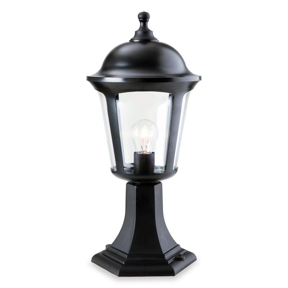 Most Popular Outdoor Pillar Lanterns For Firstlight Boston Single Light Outdoor Pillar Light In Black Finish (View 8 of 20)