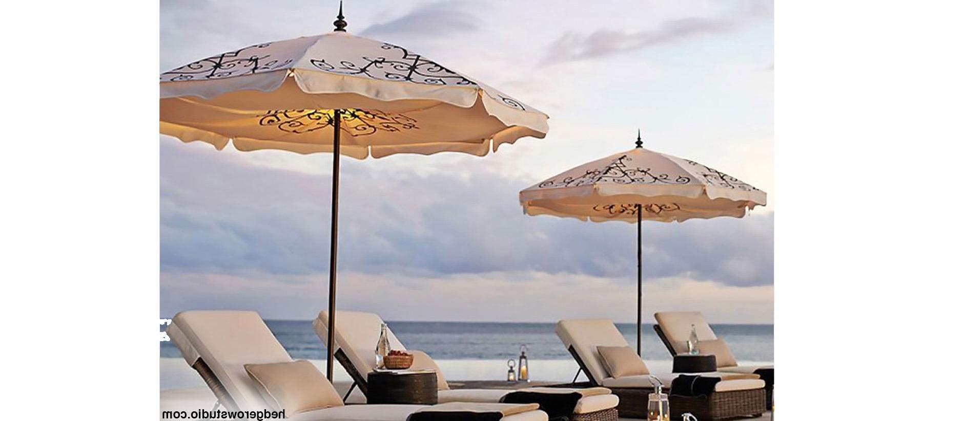 Most Popular Patio Umbrellas With Fringe Pertaining To Hedgerow Studio Patio Umbrellas (View 6 of 20)