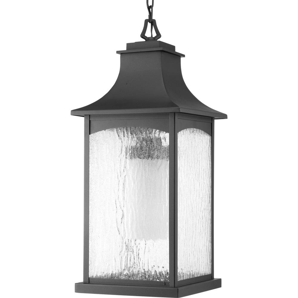 Most Popular Progress Lighting Maison Collection 1 Light Outdoor Black Hanging With Regard To Outdoor Grey Lanterns (View 8 of 20)