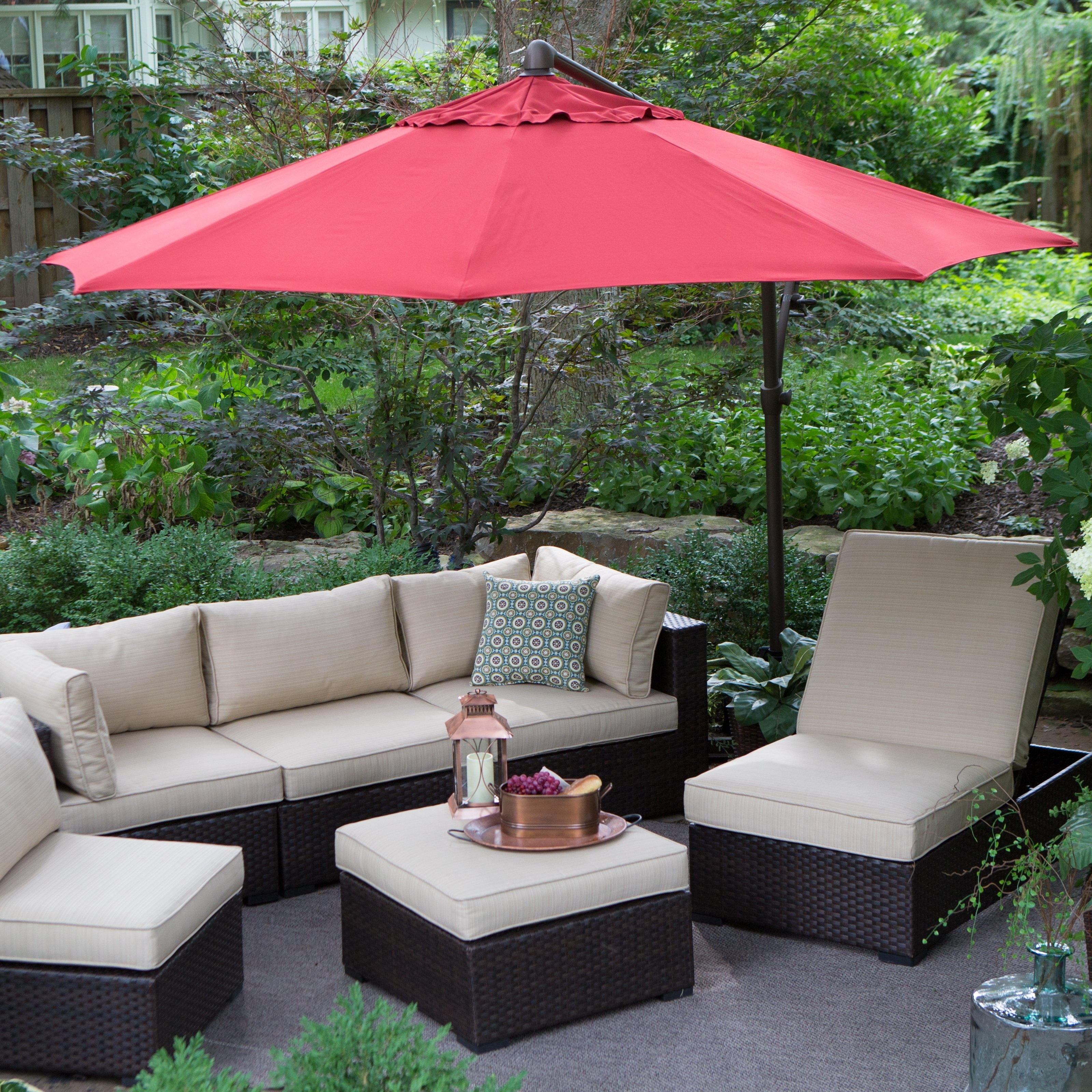 Most Popular Red Sunbrella Patio Umbrellas With Treasure Garden 6 Ft (View 10 of 20)