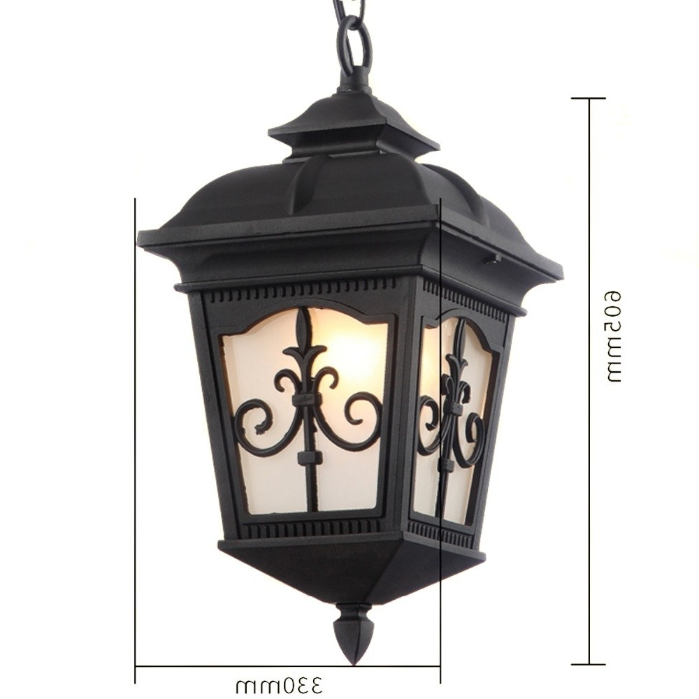 Most Popular Rust Proof Outdoor Lanterns For Outdoor Lighting Solid And Durable Outdoor Pendants Waterproof (View 9 of 20)