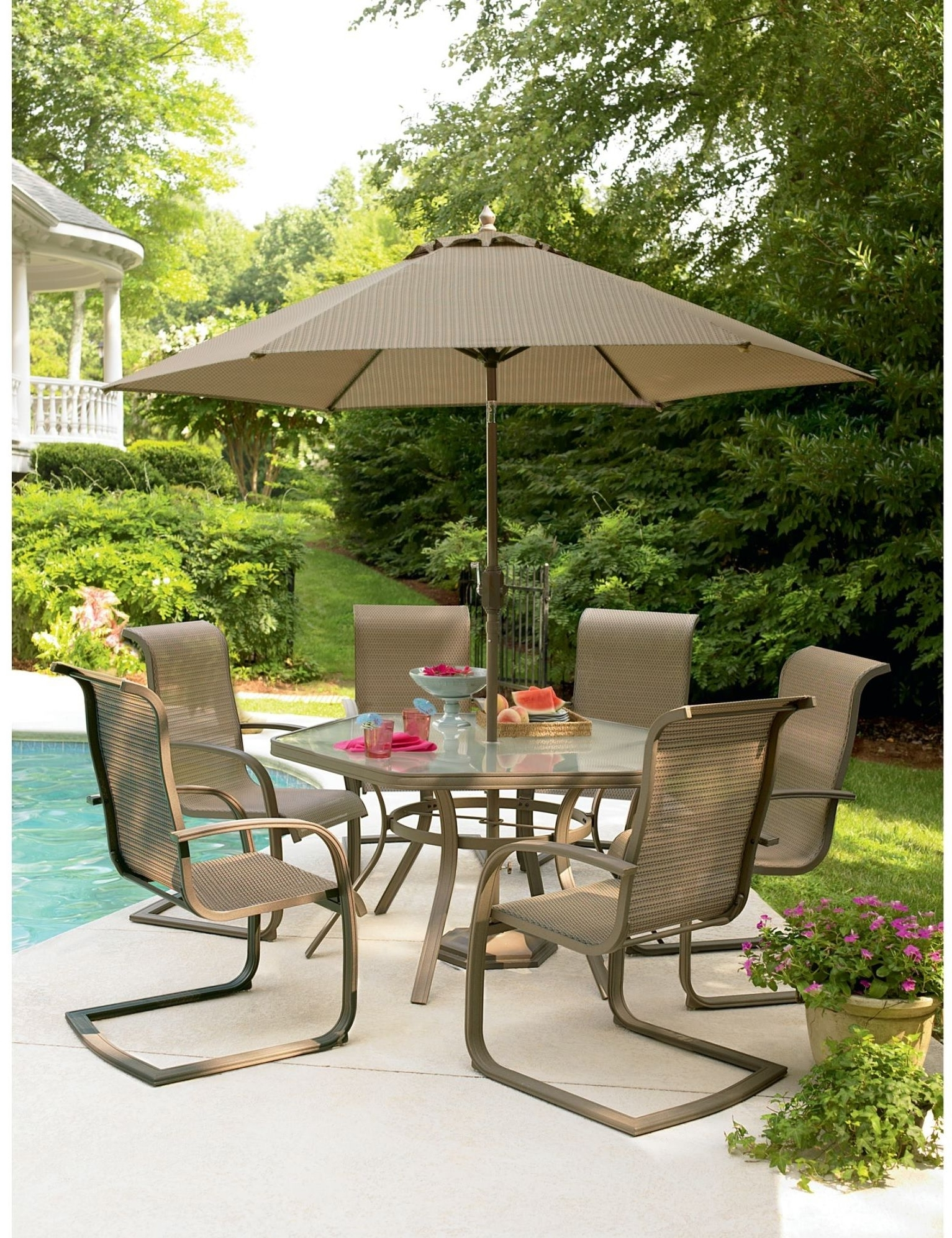 Most Popular Sears Patio Umbrellas Intended For Sears Outdoor Patio Furniture – Cool Modern Furniture Check More At (View 4 of 20)