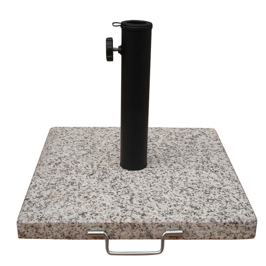Most Popular Shop Garden Treasures Speckled Beige Patio Umbrella Base At Lowes Intended For Patio Umbrellas And Bases (View 7 of 20)