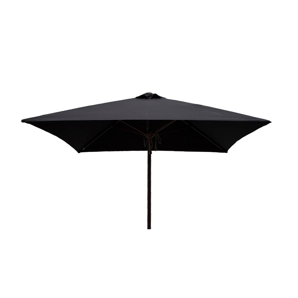 Most Popular Square Patio Umbrellas Intended For Destinationgear Classic Wood 6.5 Ft (View 9 of 20)