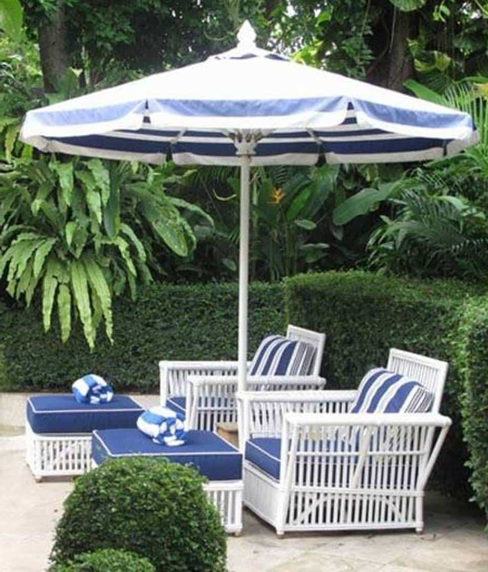 Most Popular Striped Outdoor Patio Umbrella Inside Striped Patio Umbrellas (View 5 of 20)