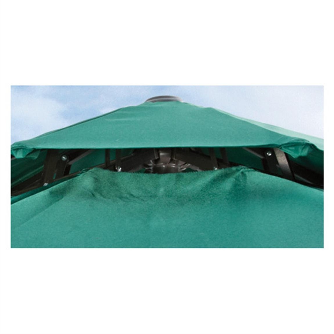 Most Popular Vented Patio Umbrellas Regarding Castlecreek 9' Two Tier Patio Umbrella With Crank – 581840, Patio (View 6 of 20)