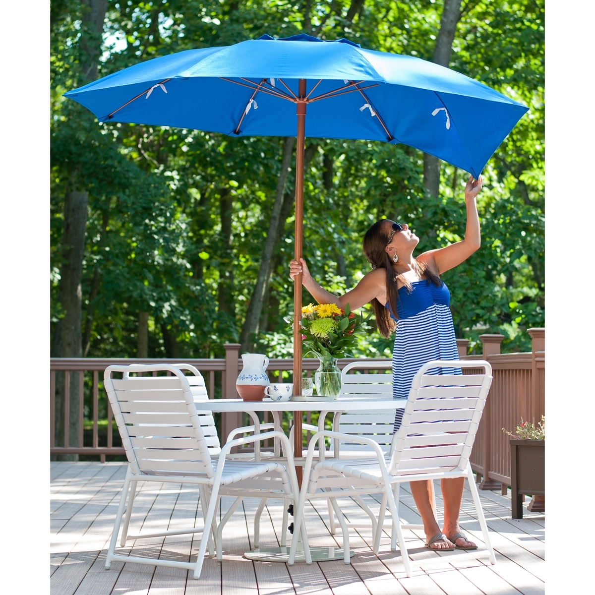 Most Popular Vented Patio Umbrellas Within  (View 7 of 20)