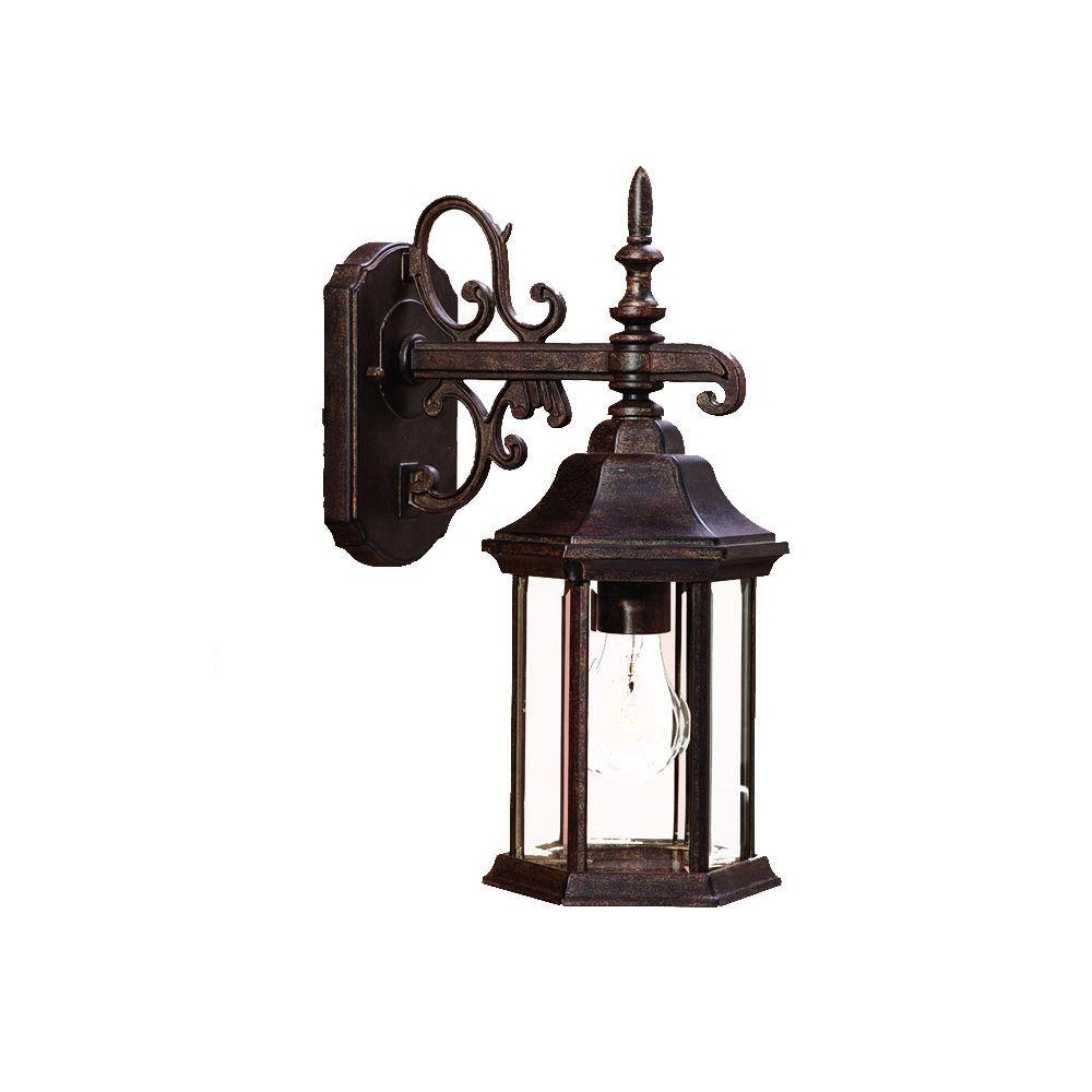 Most Popular Victorian Outdoor Lanterns Pertaining To Acclaim Lighting Madison Collection 1 Light Black Coral Outdoor Wall (View 15 of 20)