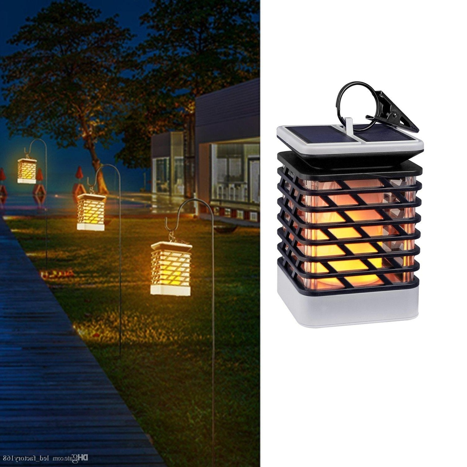 Most Popular Waterproof Outdoor Lanterns With 2018 Waterproof Solar Lights Outdoor Led Flickering Flame Torch (View 3 of 20)