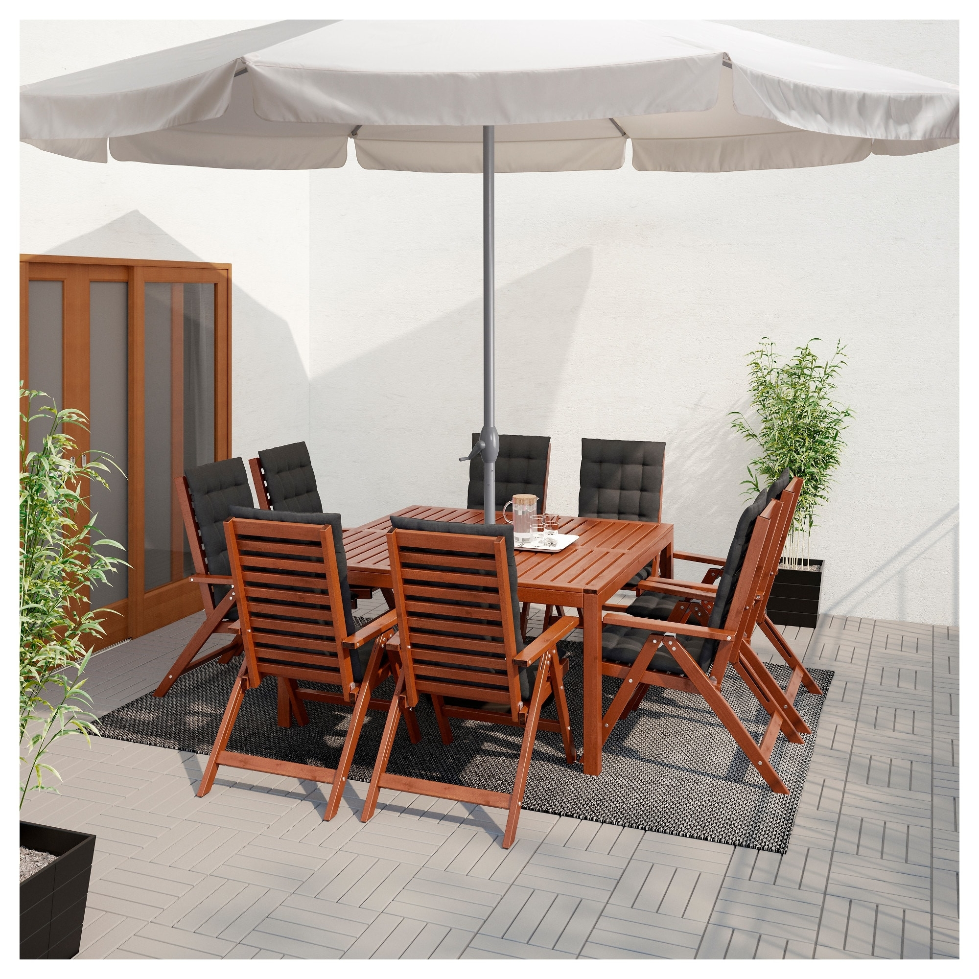 Most Recent Black Canvas Patio Umbrella Inspirational Ljuster– Umbrella Ikea Throughout Ikea Patio Umbrellas (View 16 of 20)