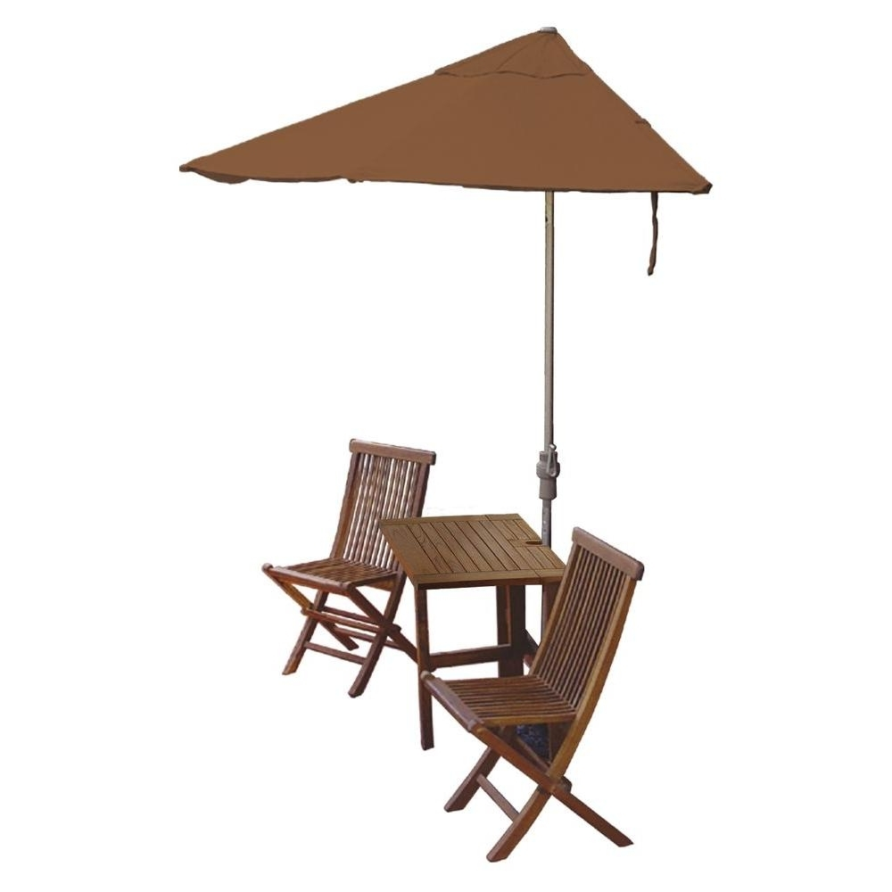 Most Recent Blue Star Group Terrace Mates Villa Economy 5 Piece Patio Bistro Set For Sunbrella Teak Umbrellas (View 7 of 20)
