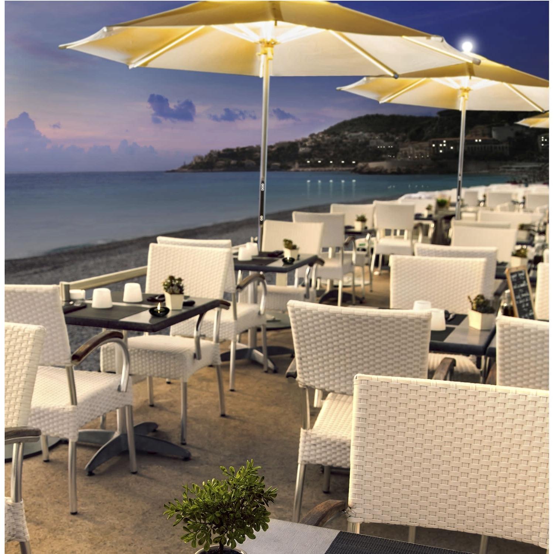 Most Recent Commercial Patio Umbrella / Teak / Aluminum / With Heater – Ni Inside Commercial Patio Umbrellas Sunbrella (View 13 of 20)