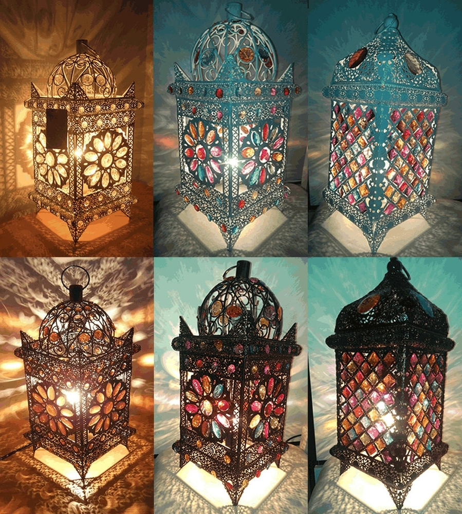 Most Recent Different Types Of Moroccan Table Lamp — Ernesto Palacio Design In Moroccan Outdoor Electric Lanterns (View 13 of 20)