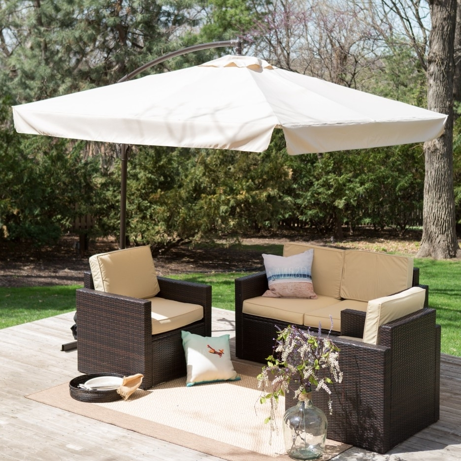 Most Recent Great Rectangle Patio Umbrella With Lights F44X On Most Luxury With Regard To Rectangle Patio Umbrellas (View 8 of 20)