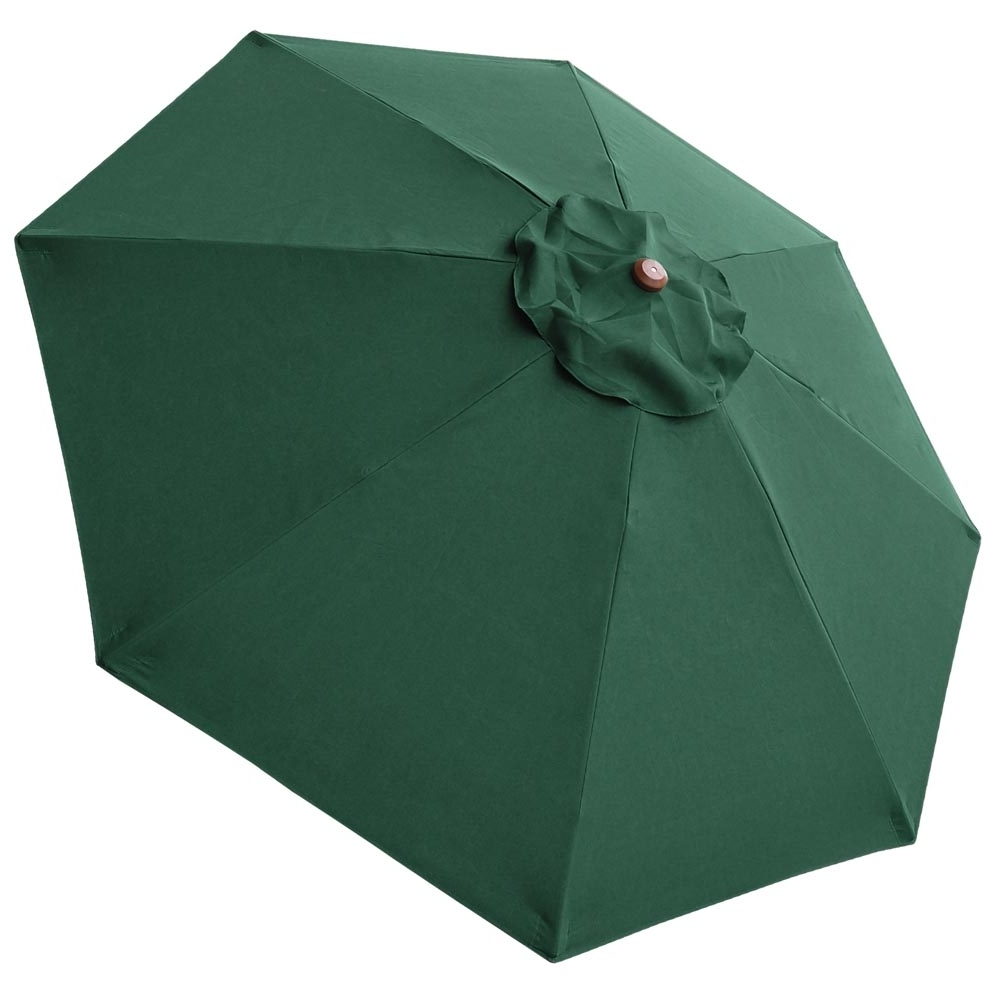 Most Recent Green Patio Umbrellas Intended For 8Ft 8 Rib Patio Umbrella Cover Canopy Replacement Top Outdoor Yard (View 14 of 20)