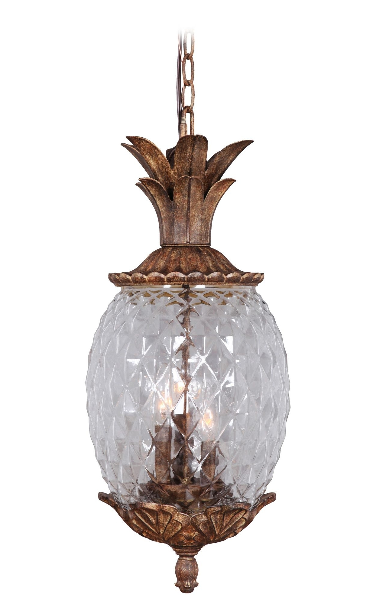 Most Recent Marianahome Pineapple 3 Light Pendant & Reviews (View 6 of 20)