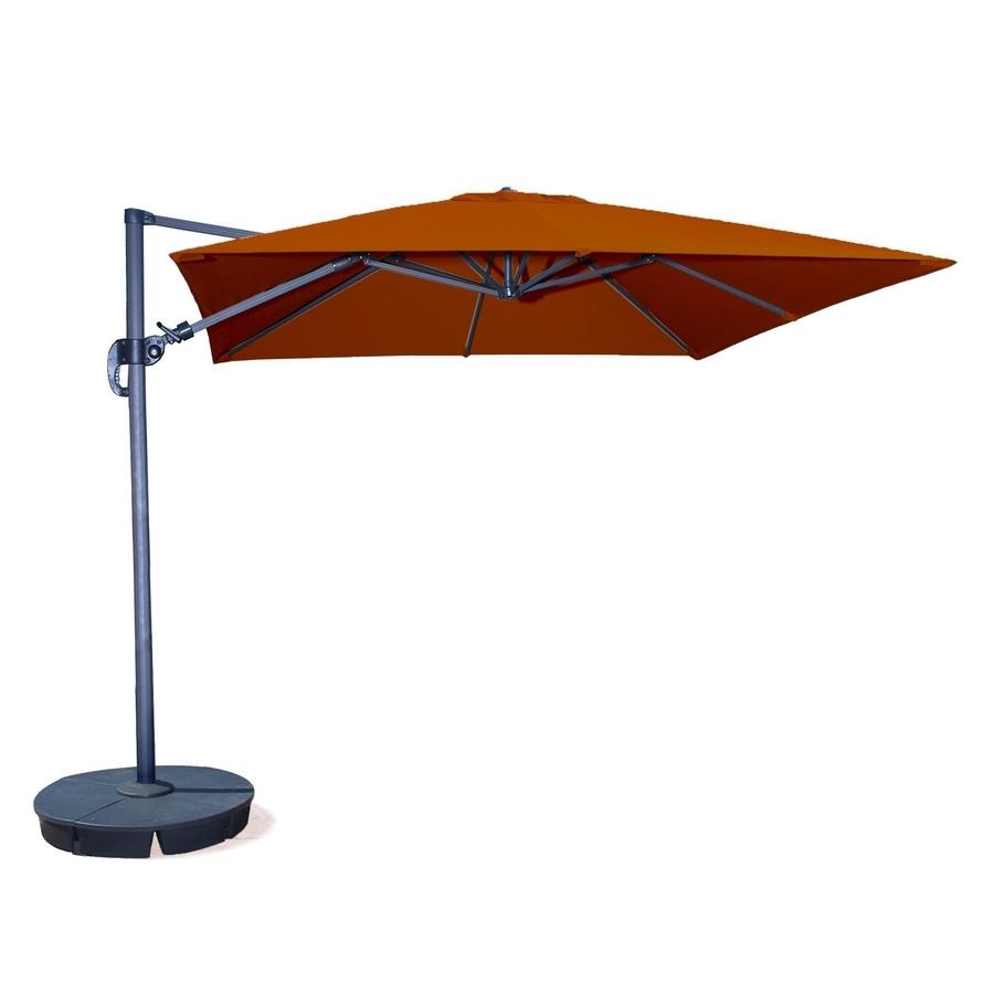 Most Recent Offset Patio Umbrellas With Base Inside Shop Blue Wave Santorini Ii Terra Cotta Offset 10 Ft Patio Umbrella (View 7 of 20)