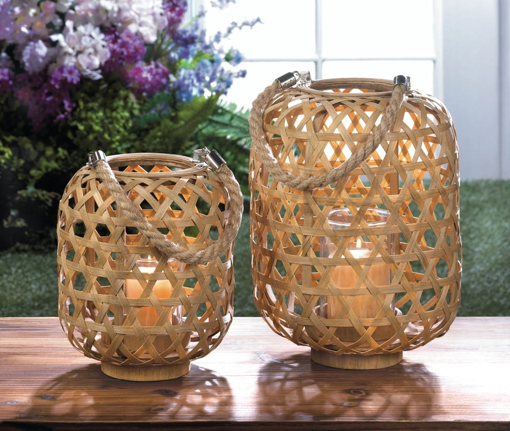 Most Recent Outdoor Bamboo Lanterns For Large Woven Bamboo Lantern (View 9 of 20)