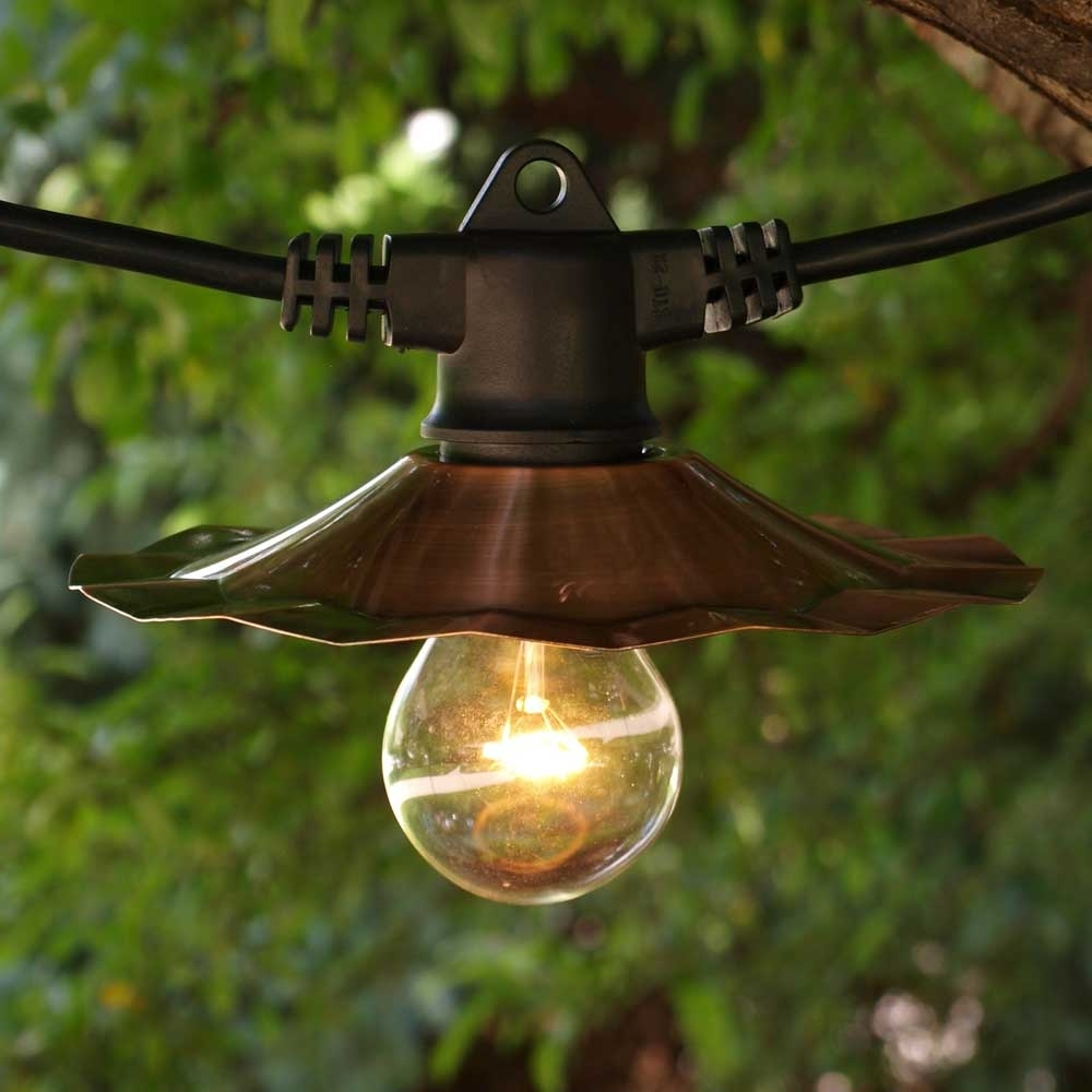 Most Recent Outdoor Battery Lanterns For Patio Pertaining To Ft String Light Copper Medium Cords Splendid Hang Outdoor Lights (View 9 of 20)