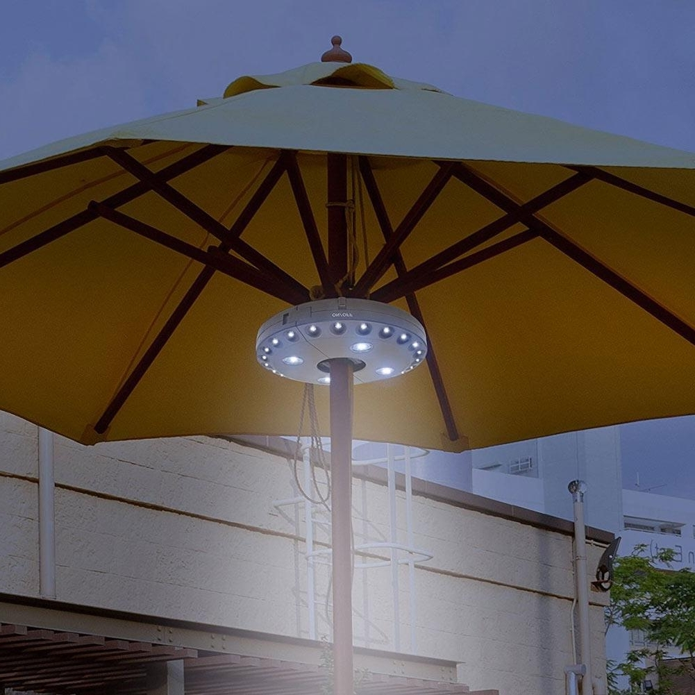 Most Recent Outdoor Cordless 28Led Patio Umbrella Pole Light Garden Portable For Exotic Patio Umbrellas (View 14 of 20)