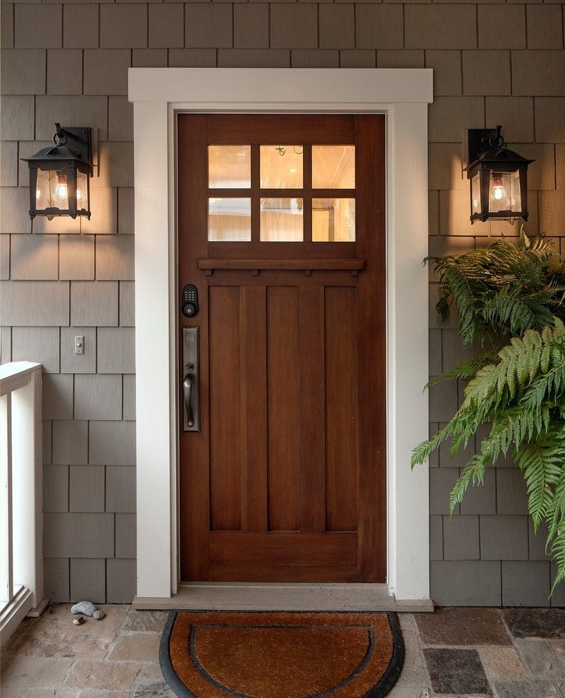 Most Recent Outdoor Lanterns For Front Door Within Craftsman Front Door Exterior Craftsman With Exterior Traditional (View 7 of 20)