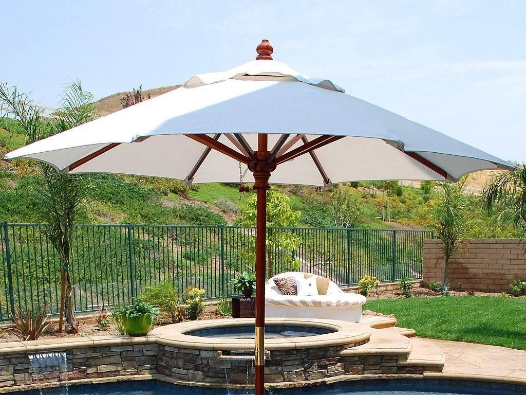 Most Recent Patio Umbrellas At Home Depot Inside Calm Patio Bench And Offset Patio Patio Bench In Patio Table Also (View 10 of 20)