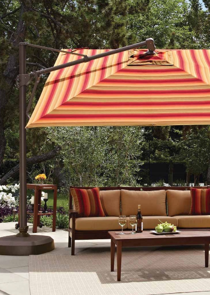 Most Recent Patio Umbrellas — Island Lifestyles With Regard To Striped Patio Umbrellas (View 7 of 20)
