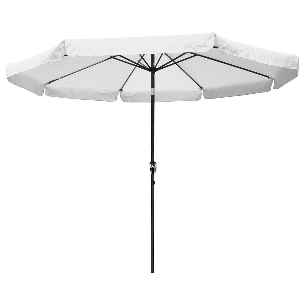 Most Recent Patio Umbrellas With Valance Regarding Yescomusa: 10' Aluminum Outdoor Patio Umbrella W/ Valance Crank Tilt (View 3 of 20)