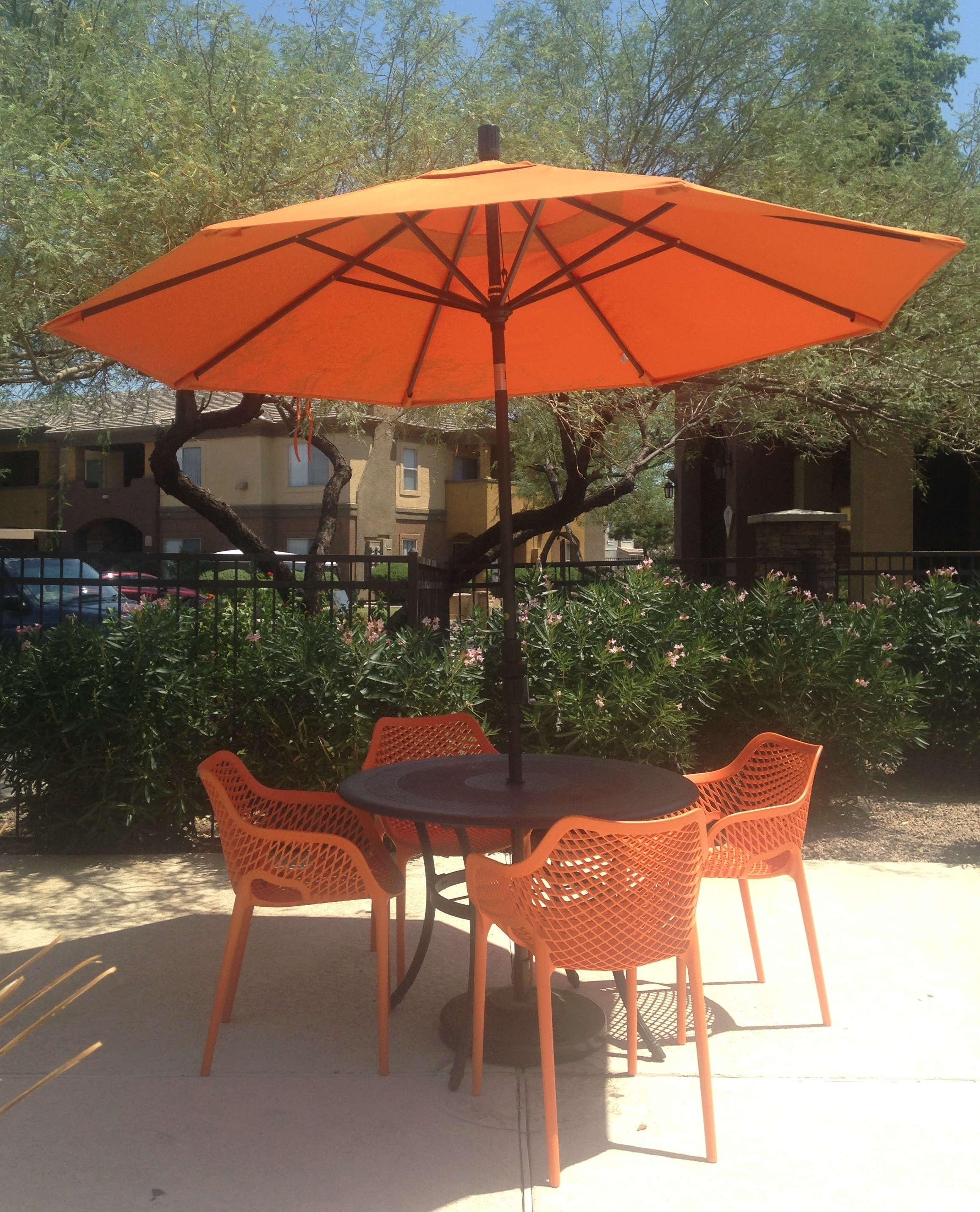Most Recent Photo Of Target Patio Umbrella Exterior Orange Target Patio With Regard To Small Patio Umbrellas (View 7 of 20)