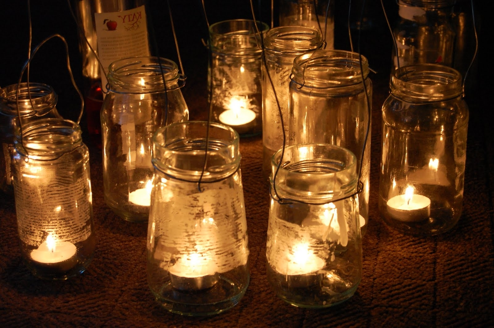 Most Recent Simple Diy Rustic Hanging Mason Jar Candle Holder Lanterns For In Outdoor Jar Lanterns (View 10 of 20)