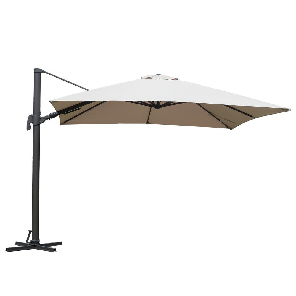 Most Recent Square Patio Umbrellas Intended For Atlantic Free Pole Square 10 Ft. X 10 Ft (View 10 of 20)