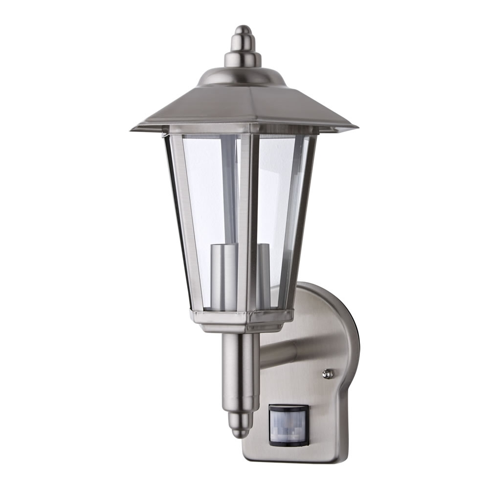 Most Recent Stainless Steel Modern Outdoor Wall Lantern E27 With Pir Sensor No For Outdoor Pir Lanterns (View 10 of 20)