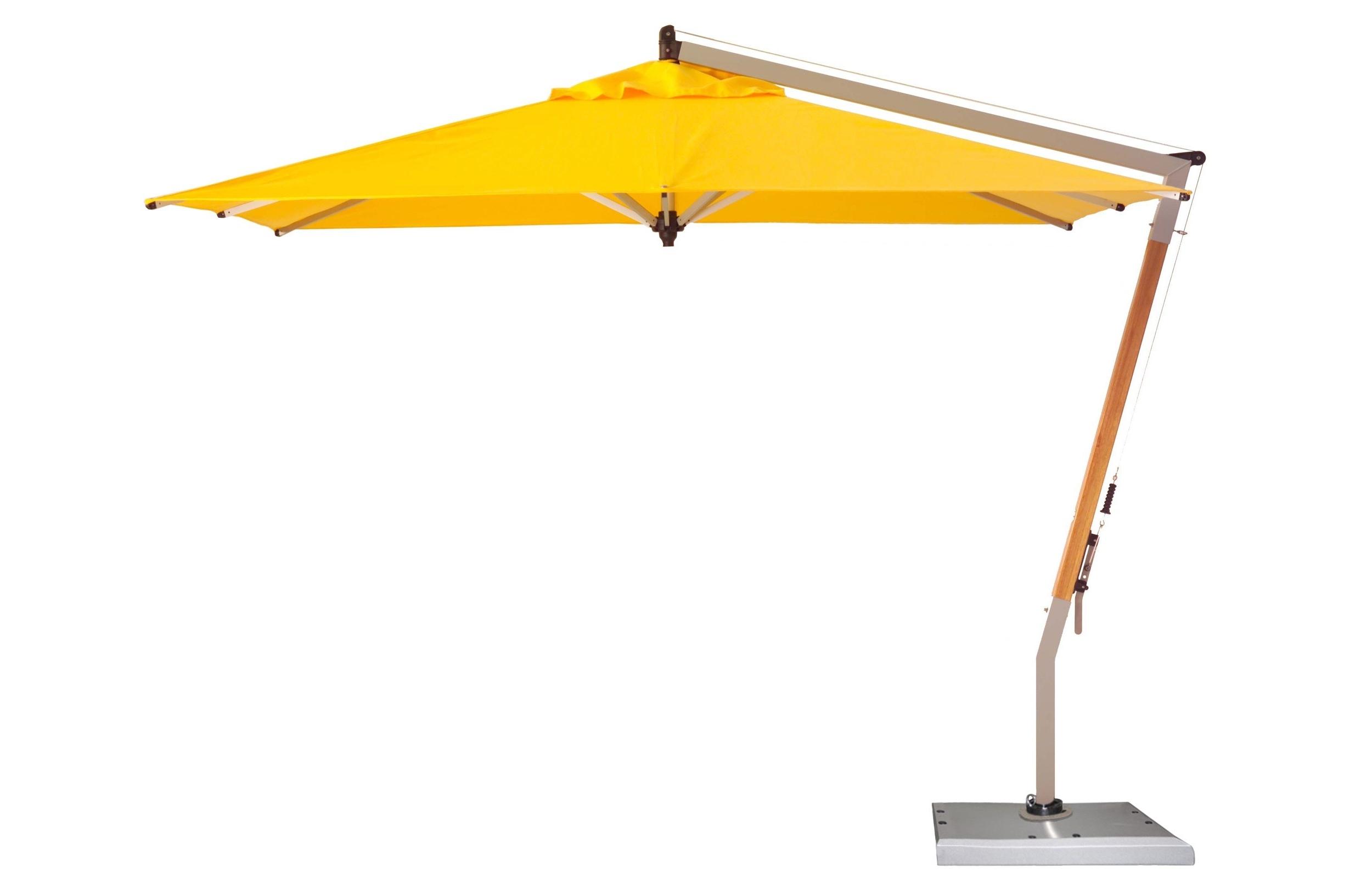 Most Recent Yellow Sunbrella Patio Umbrellas Intended For Plush Cantilever Patio Umbrella Cantilever Patio Umbrella Ravenna To (View 3 of 20)