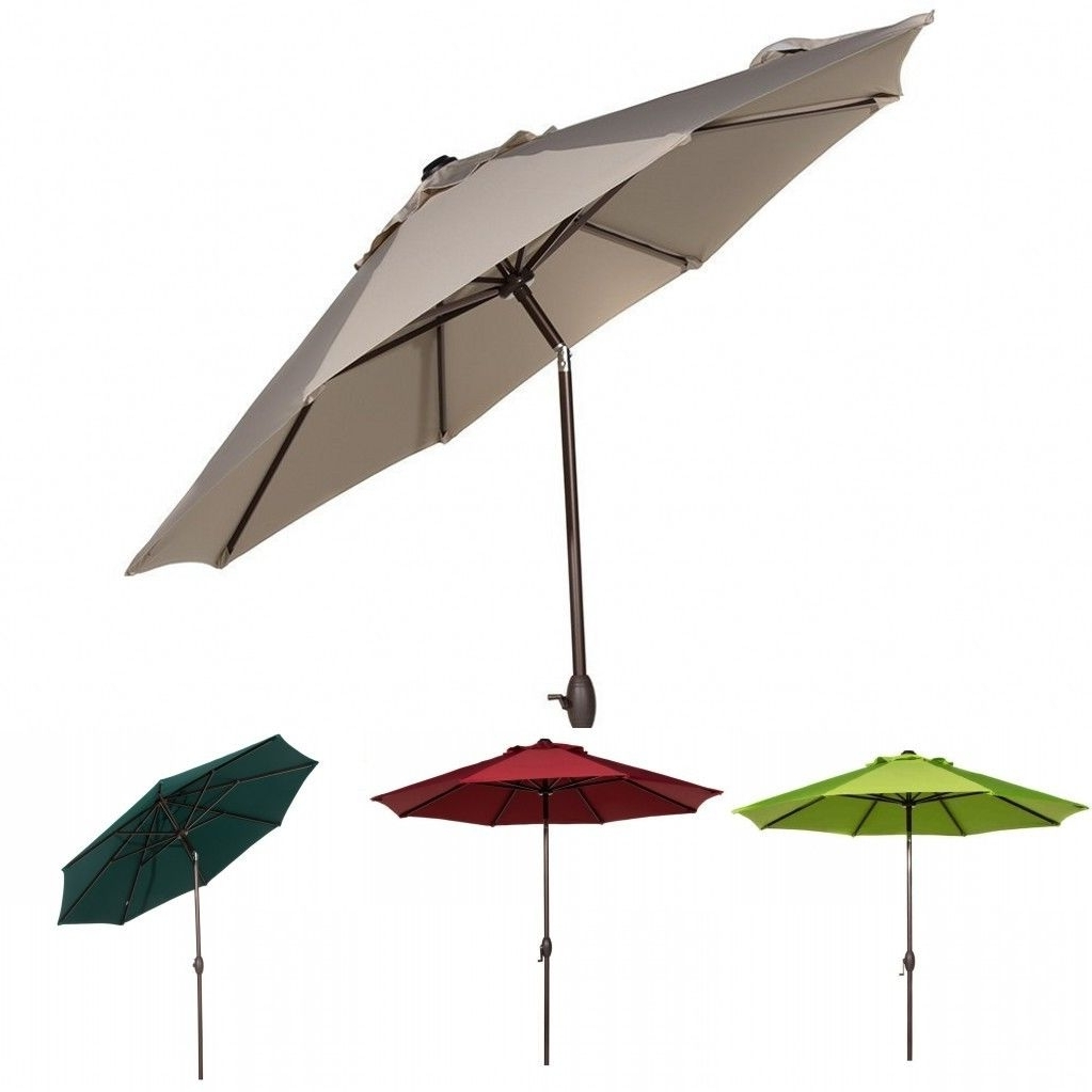 Most Recently Released 9 Ft Sunbrella Fabric Patio Umbrella Outdoor Table Umbrella W/ Auto In Patio Umbrellas With Sunbrella Fabric (View 10 of 20)