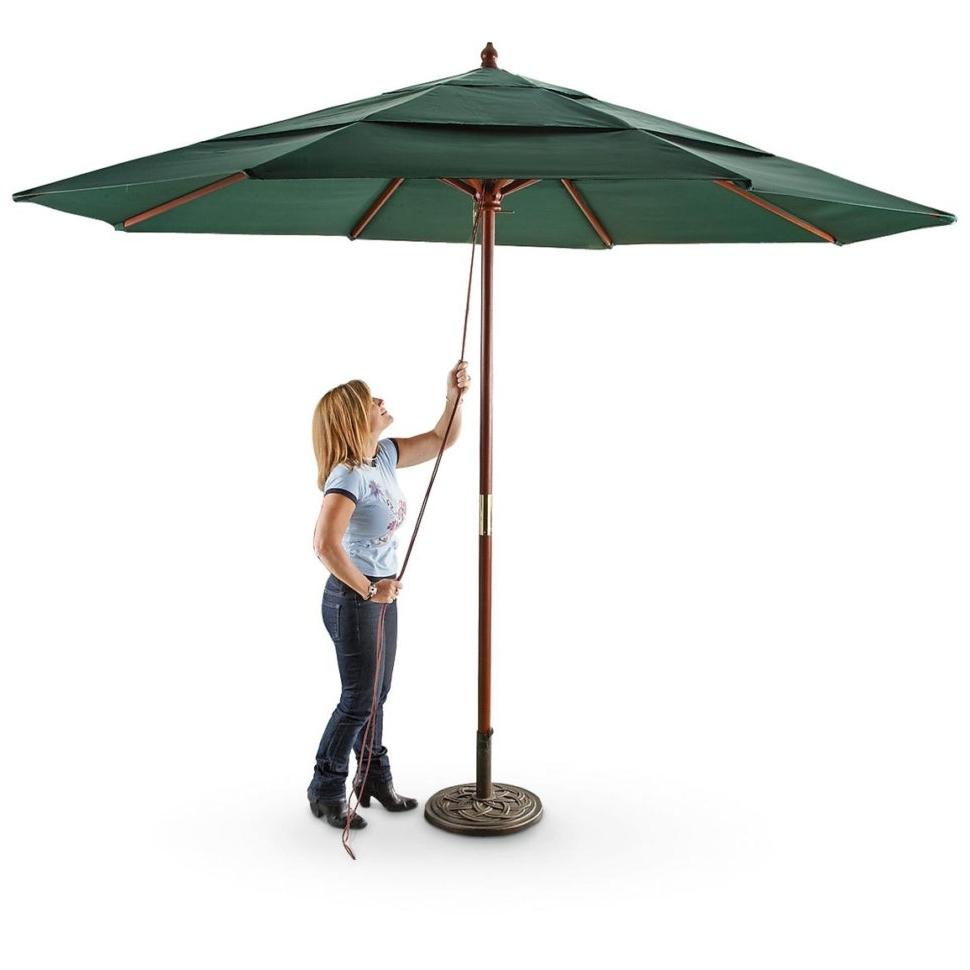 Most Recently Released Castlecreek 3 Tier 11' Umbrella 233708, Patio, 11 Ft Outdoor Also 11 Regarding 11 Foot Patio Umbrellas (View 14 of 20)