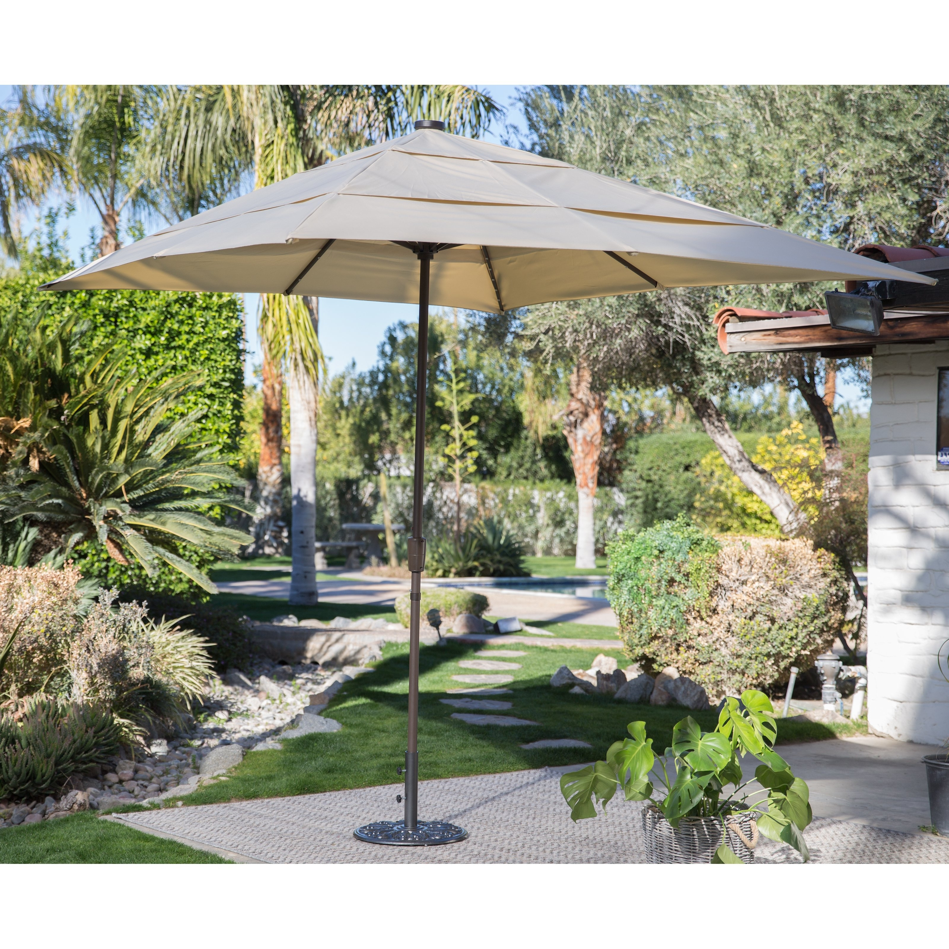Most Recently Released Coral Coast Offset Patio Umbrellas Intended For Coral Coast 8 X 11 Ft (View 12 of 20)