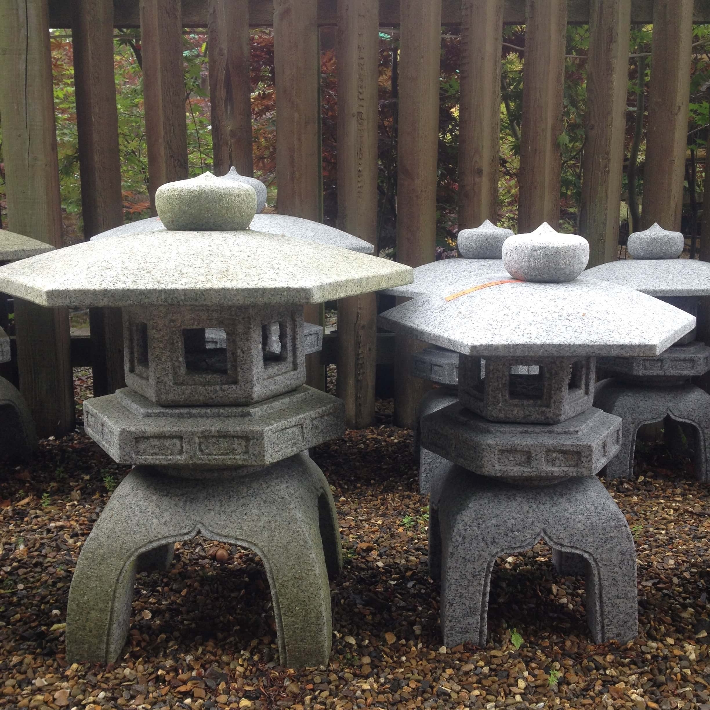 Most Recently Released Kodai Rokkaku Yukimi Japanese Stone Lantern For Oriental Gardens Intended For Outdoor Oriental Lanterns (View 8 of 20)