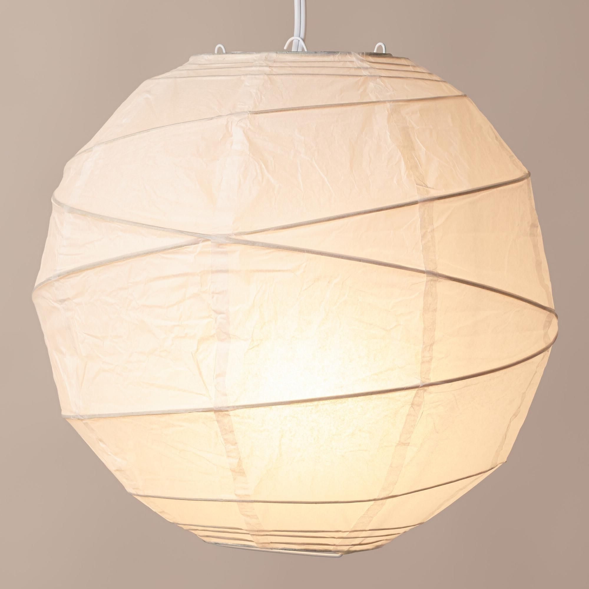 Most Recently Released Maru Round White Paper Lantern (View 5 of 20)