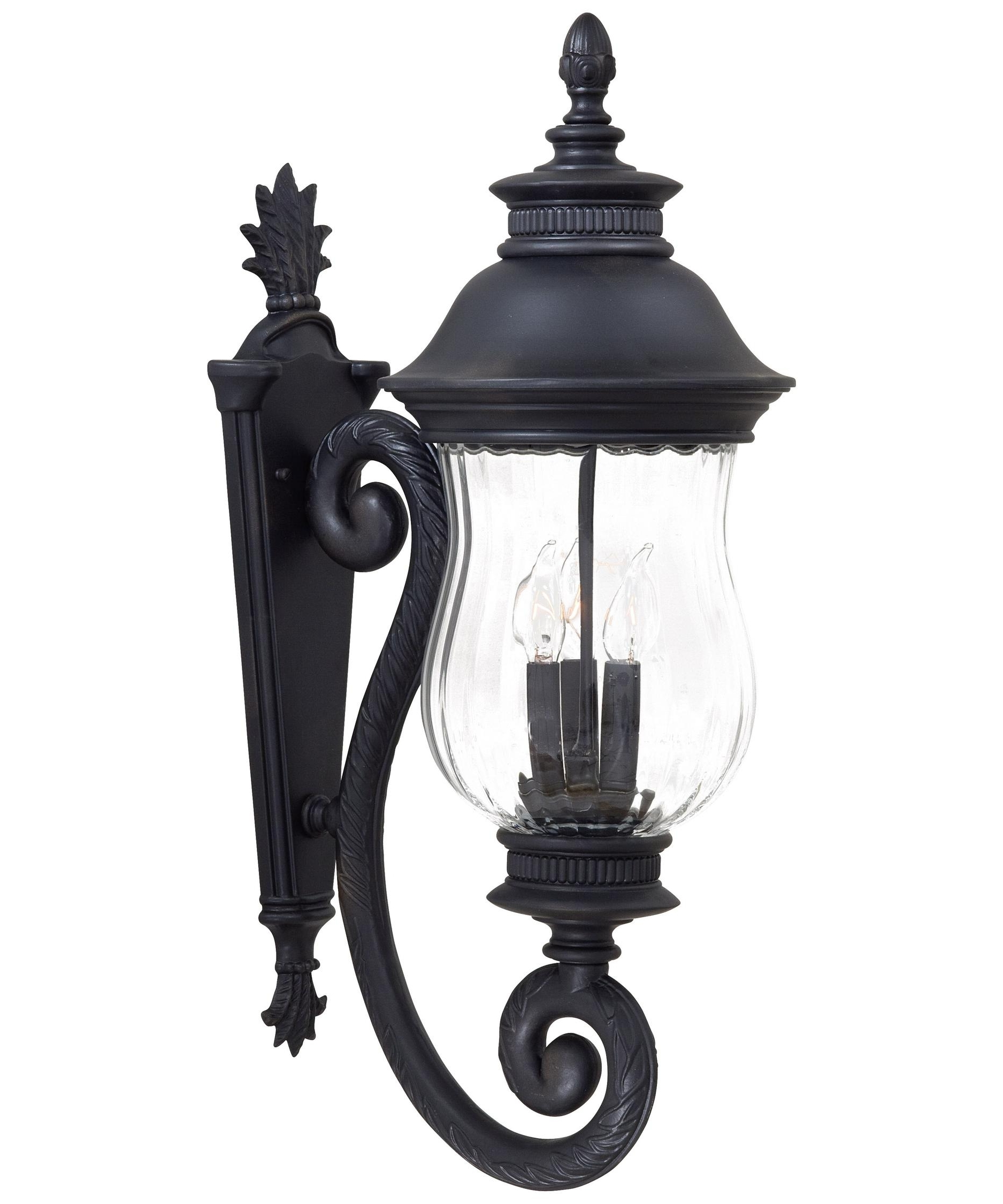 Most Recently Released Minka Lavery 8901 Newport 10 Inch Wide 3 Light Outdoor Wall Light Intended For Outdoor Cast Iron Lanterns (View 11 of 20)