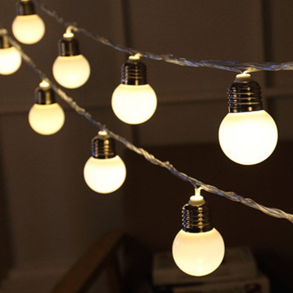 Most Recently Released Outdoor Ball Lanterns With Regard To 20 Led Christmas Garland Festoon Light Bulbs New Year's Products (View 6 of 20)