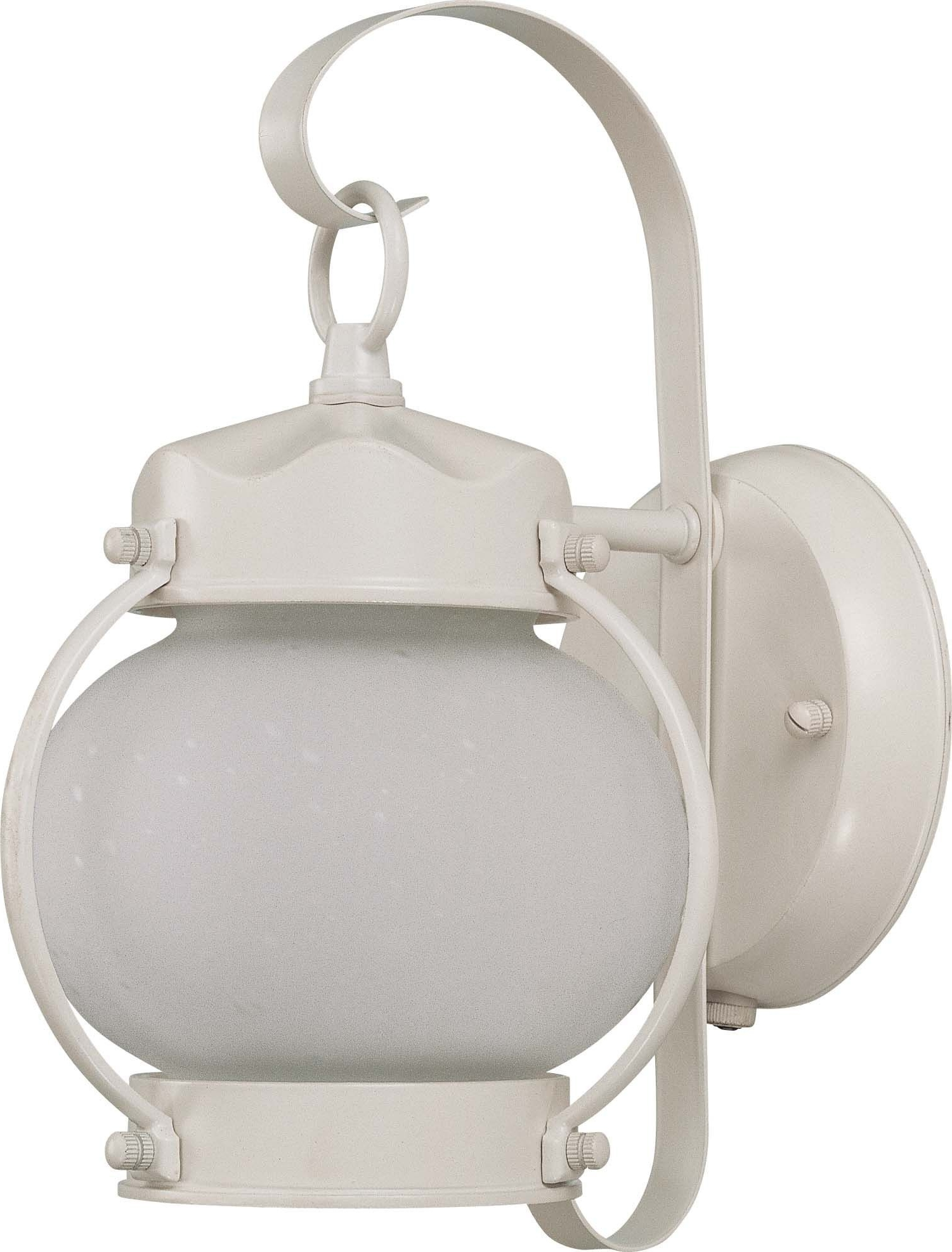Most Recently Released Outdoor Lighting Onion Lanterns For Nuvo 1 Light Onion Outdoor Wall W/ Frosted Glass – (1) 13w Gu24 Lamp (View 17 of 20)