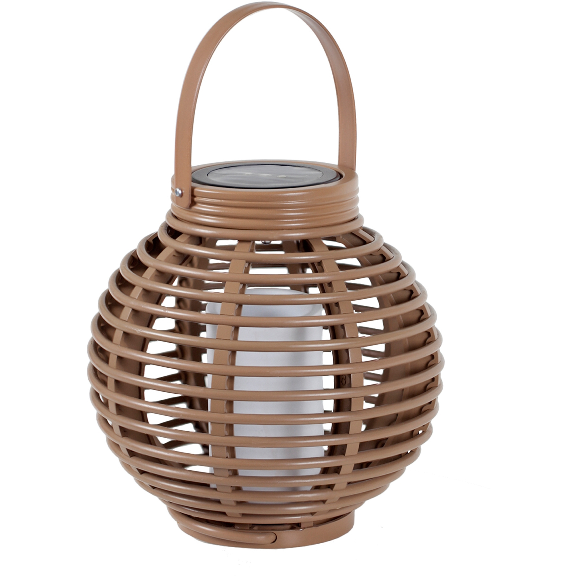 Most Recently Released Outdoor Rattan Lanterns For Solar Wicker Basket Candle Lantern – Walmart (View 9 of 20)