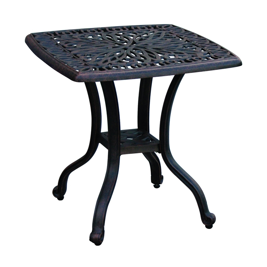 Most Recently Released Patio Umbrellas With Accent Table With Shop Darlee Elisabeth 21 In W X 21 In L Square Aluminum End Table At (View 8 of 20)