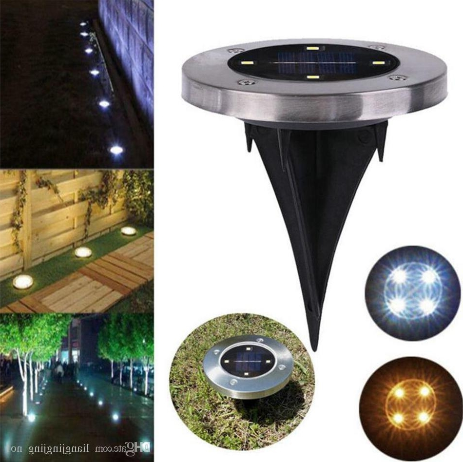 Most Recently Released Waterproof Solar Powered 4Led Disk Lights Buried Light Outdoor Under Inside Outdoor Ground Lanterns (View 8 of 20)
