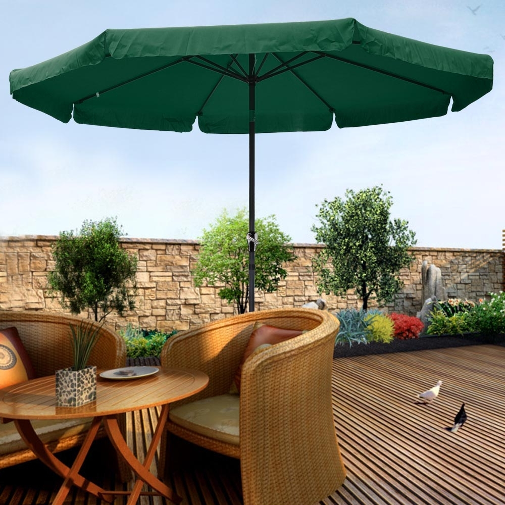 Most Up To Date 10Ft Aluminum Outdoor Patio Umbrella W/valance Crank Tilt Sunshade Pertaining To Patio Umbrellas With Valance (View 12 of 20)