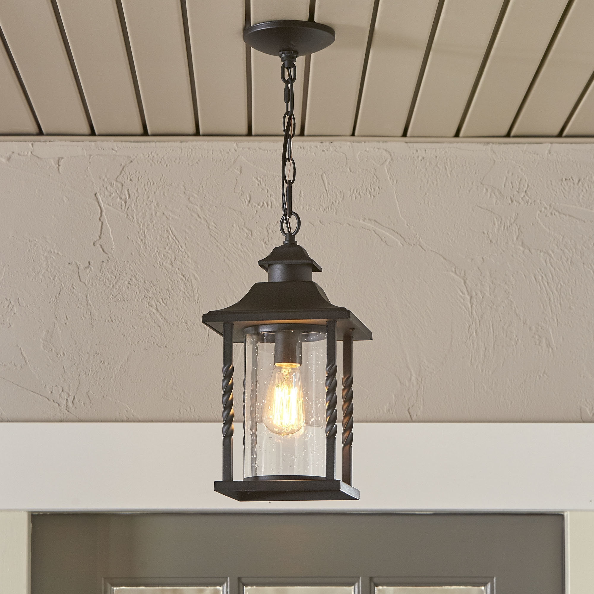 Most Up To Date Birch Lane™ Barrow 1  Light Outdoor Hanging Lantern & Reviews With Regard To Outdoor Mosaic Lanterns (View 9 of 20)