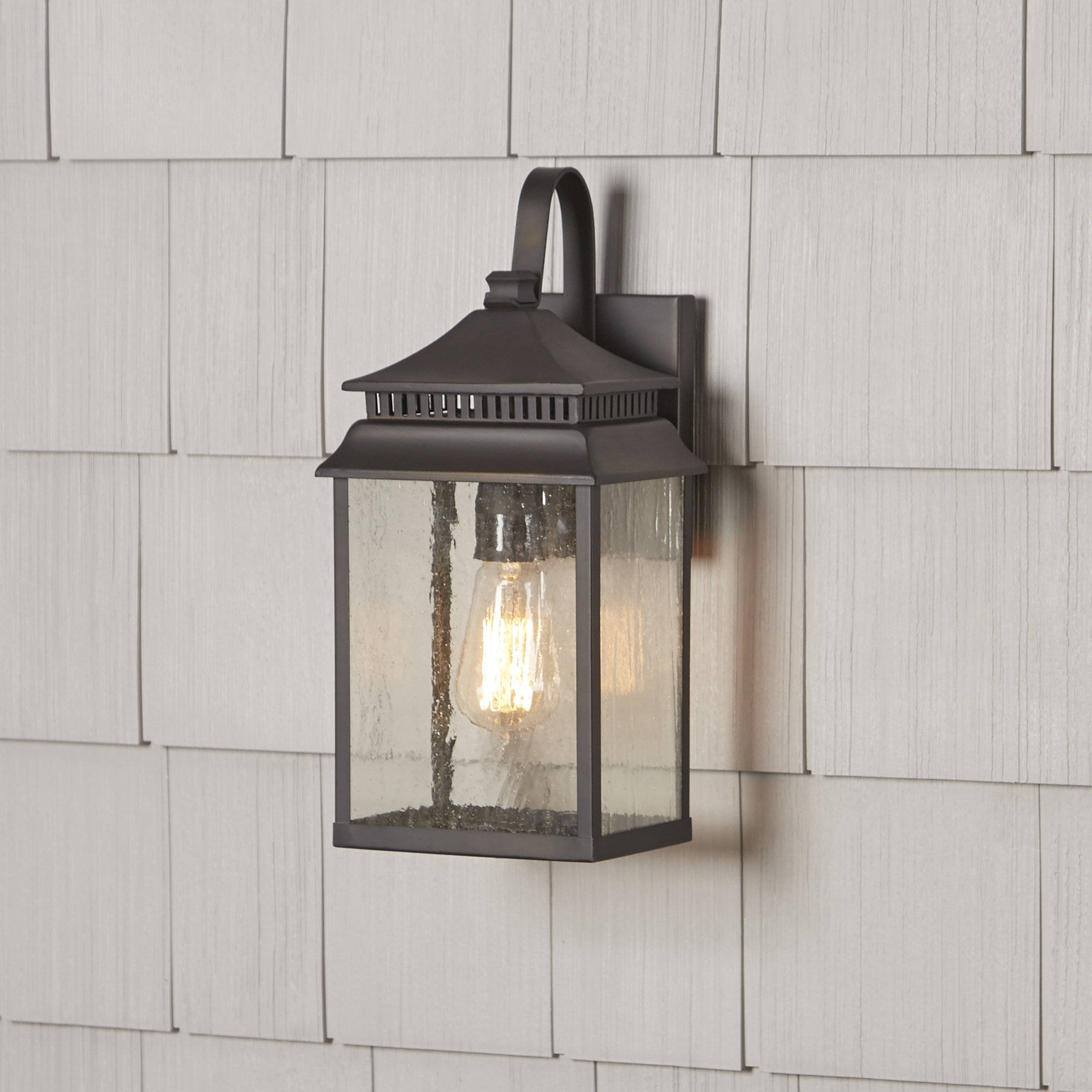 Most Up To Date Birch Lane™ Briarfield 1 Light Outdoor Wall Lantern & Reviews Throughout Outdoor Wall Lanterns (View 10 of 20)
