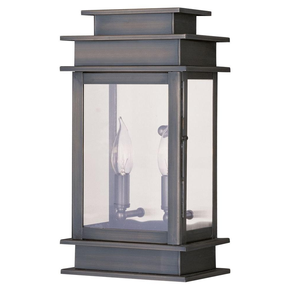 Most Up To Date Filament Design Providence 2 Light Outdoor Vintage Pewter For Outdoor Vintage Lanterns (View 8 of 20)